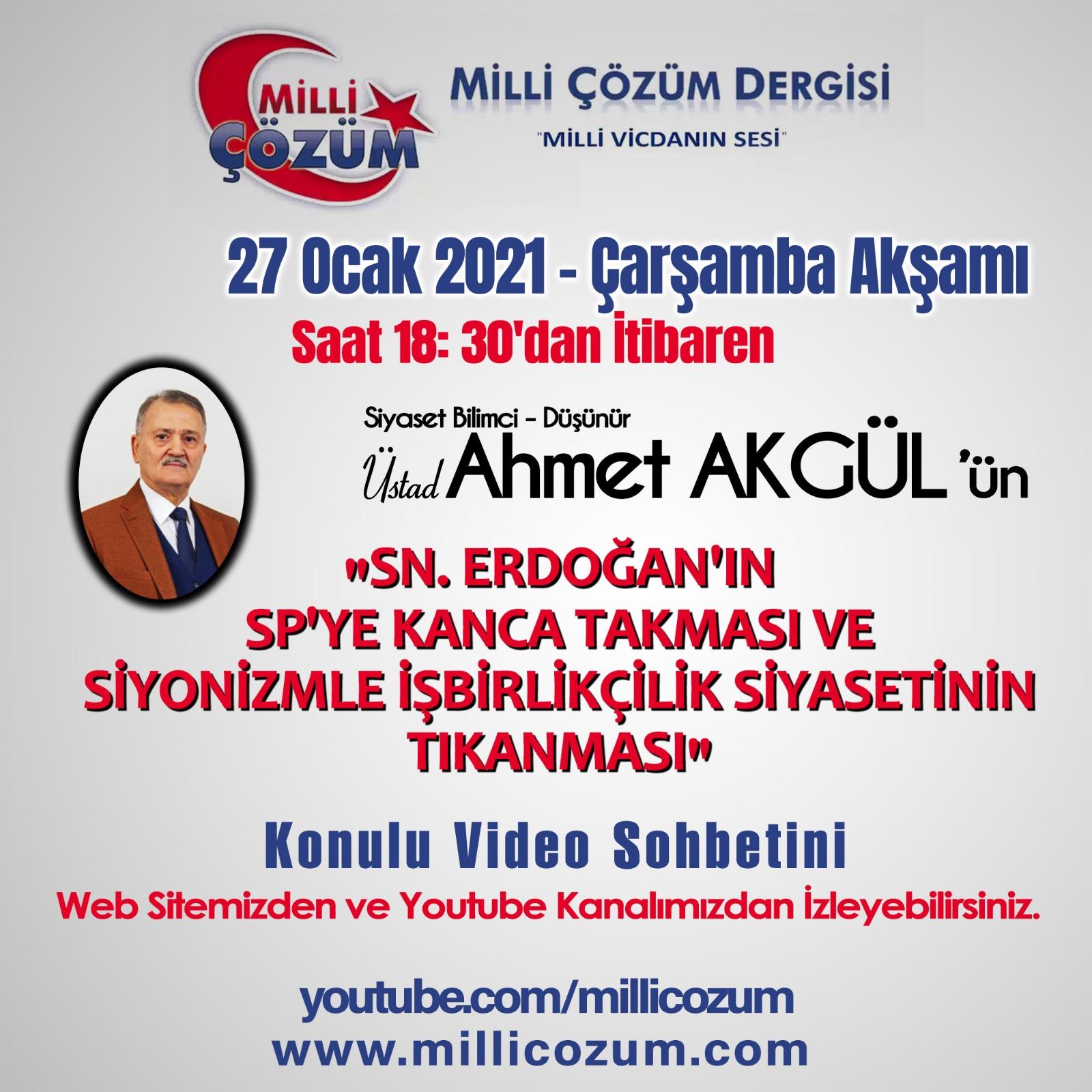 TARİHİ VİDEO SOHBETİNE DAVET!